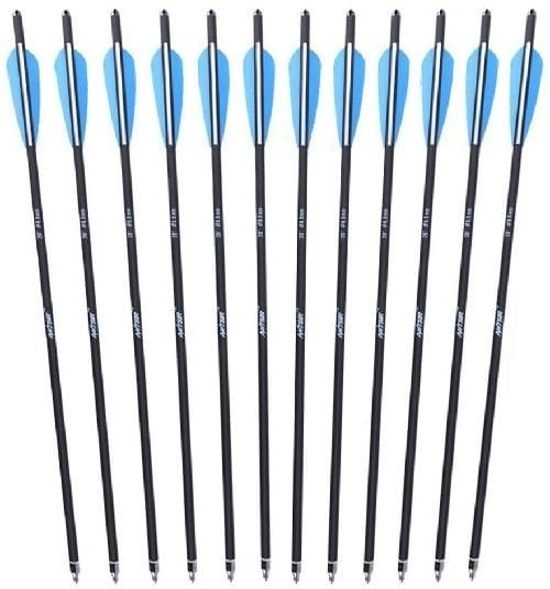 Antsir 12-Pack Carbon Crossbow Bolts
