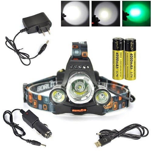 Boruit Headlamp For Hunting With Green Light