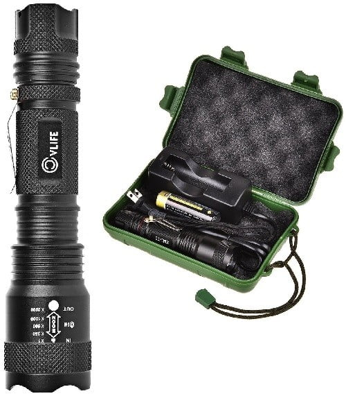CVLife US16325 Rechargeable Flashlight