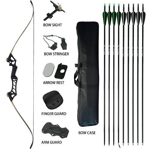 D&Q Aluminum Hunting Recurve Bow Kit