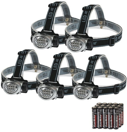 EverBrite 5-Pack LED Headlamp For Hunting