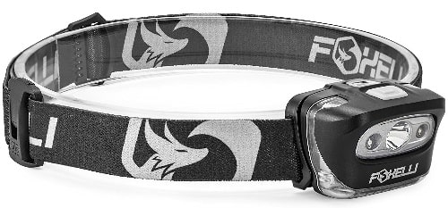 Foxelli White CREE LED And Red Light Headlamp For Hunting