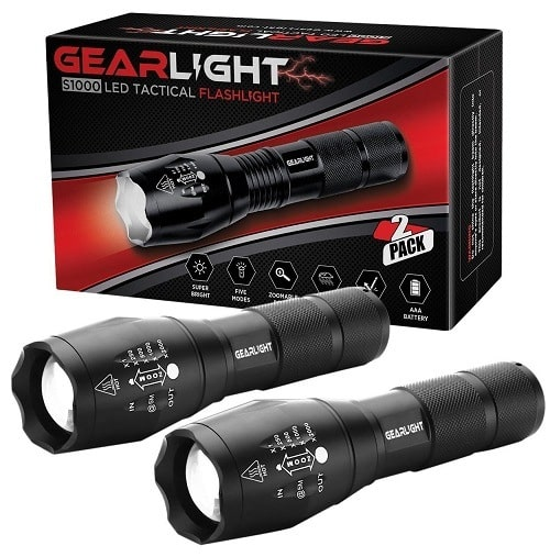 Gearlight S1000 LED Tactical Brightest Flashlight