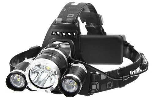 InnoGear Headlamp For Hunting With Rechargeable Batteries and Wall Charger