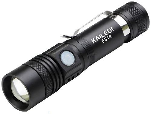 Kailedi F518 LED Flashlight with USB Rechargeable