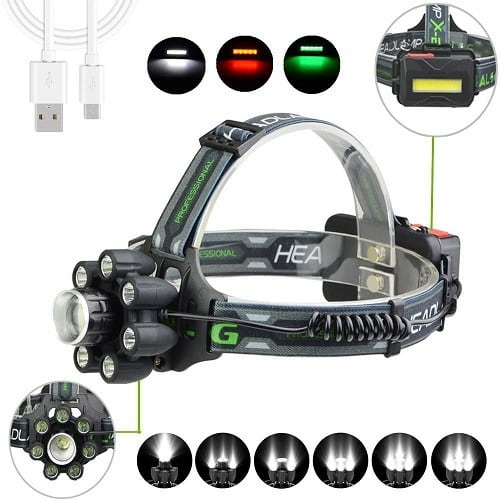 Kailedi Headlamp For Hunting 4 Lights 5 Modes Super Bright