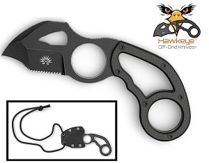 Off-Grid Tactical Hawkeye 2-Inch Neck Knife