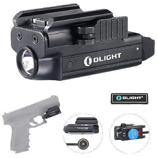 Olight Bundle Pistol Light With Magnetic USB Charger and Patch