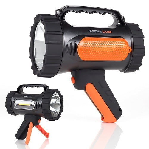 Rugged Camp Titan X10 Rechargeable Spotlight For Hunting
