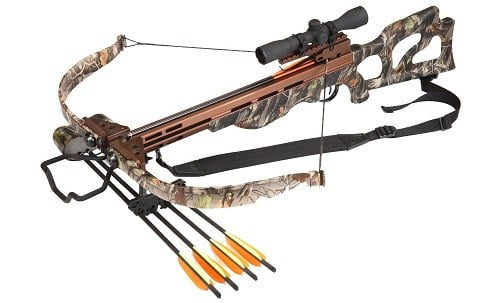 SA Sports Compound Crossbow With 4x32 Scope And Bolts