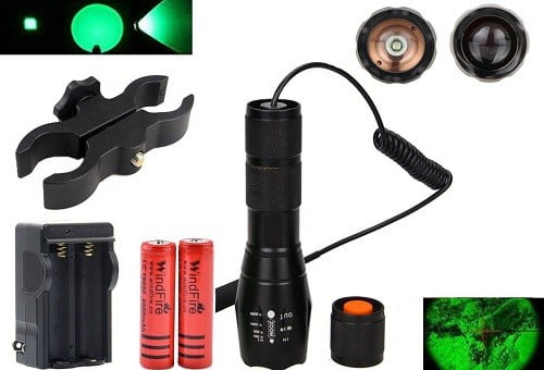 WindFire Green LED Tactical Spotlight For Hunting