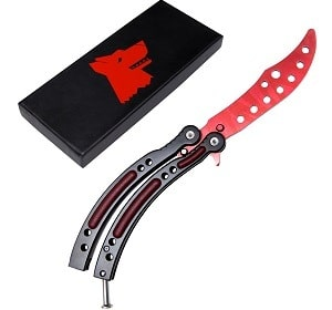 Wolf SML butterfly knife trainer kit