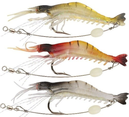 Goture Shelure Shrimp Bait Set Bass Lure
