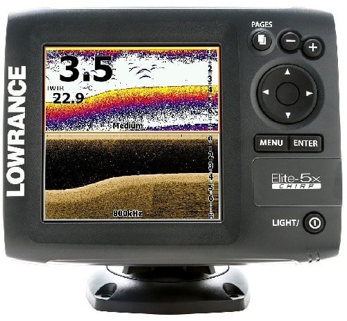 Lowrance 000-11657-001 Elite-5X CHIRP with 83,200+455,800 Transducer