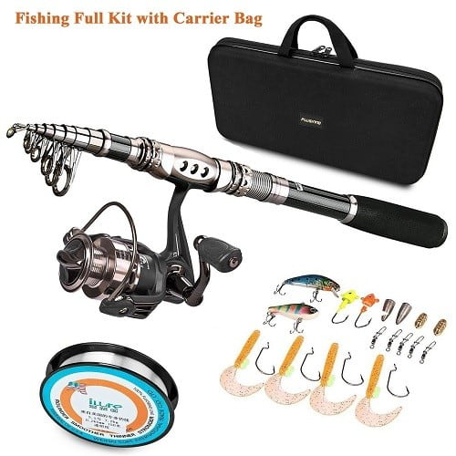Plusinno Telescopic Fishing Rod and Reel