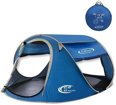 G4Free 3-4 Person Pop Up Tent